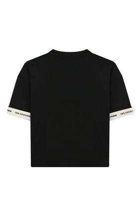 Детская хлопковая футболка LES COYOTES DE PARIS черного цвета, арт. 111-22-106 | Фото 2