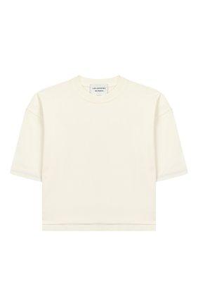 Детская хлопковая футболка LES COYOTES DE PARIS бежевого цвета, арт. 111-22-106 | Фото 1