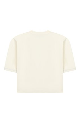 Детская хлопковая футболка LES COYOTES DE PARIS бежевого цвета, арт. 111-22-106 | Фото 2