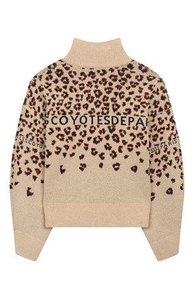 Детский свитер LES COYOTES DE PARIS бежевого цвета, арт. 111-23-080   Фото 2