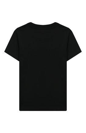 Детская хлопковая футболка LES COYOTES DE PARIS черного цвета, арт. 111-22-068 | Фото 2