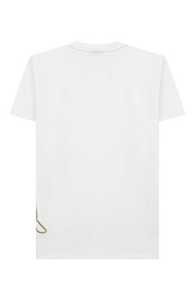 Детская хлопковая футболка MONTA JR белого цвета, арт. T0DA | Фото 2