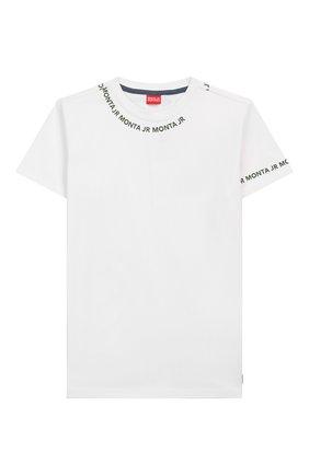 Детская хлопковая футболка MONTA JR белого цвета, арт. TARAZ | Фото 1