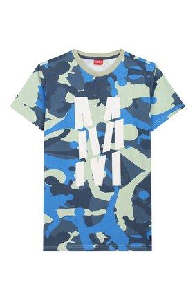 Детская хлопковая футболка MONTA JR хаки цвета, арт. TRENT0 | Фото 1