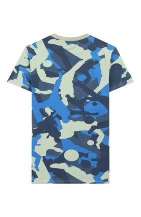 Детская хлопковая футболка MONTA JR хаки цвета, арт. TRENT0 | Фото 2