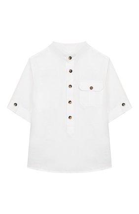 Детская льняная рубашка LORO PIANA белого цвета, арт. FAI9682 | Фото 1