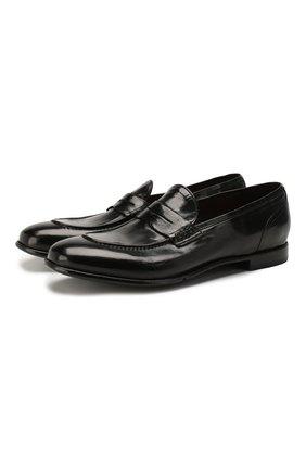 Мужские кожаные пенни-лоферы LEMARGO черного цвета, арт. AF05B/SKIPPER | Фото 1