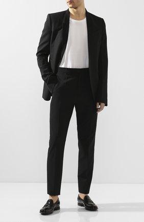 Мужские кожаные пенни-лоферы LEMARGO черного цвета, арт. AF05B/SKIPPER | Фото 2