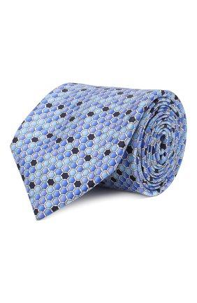 Мужской шелковый галстук ZILLI синего цвета, арт. 50544/TIES | Фото 1