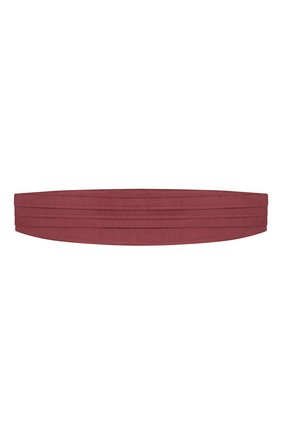Мужской шелковый камербанд CORNELIANI бордового цвета, арт. 85U307-0120300/00   Фото 1