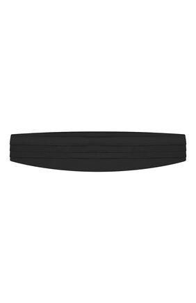 Мужской шелковый камербанд CORNELIANI черного цвета, арт. 85U307-0120301/00 | Фото 1 (Материал: Шелк, Текстиль; Стили: Классический)