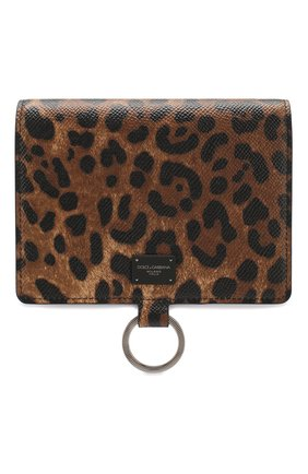 Мужской кожаное портмоне DOLCE & GABBANA коричневого цвета, арт. BP2590/AX620 | Фото 1