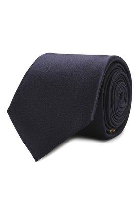 Мужской шелковый галстук GUCCI синего цвета, арт. 621511/4E009 | Фото 1