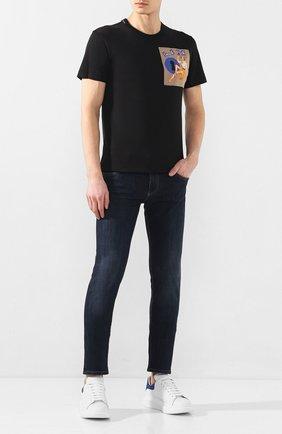 Мужские джинсы DOLCE & GABBANA синего цвета, арт. GY07LZ/G8BY4   Фото 2