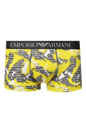 Мужские хлопковые боксеры EMPORIO ARMANI желтого цвета, арт. 111389/0P508 | Фото 1