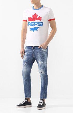 Мужские джинсы DSQUARED2 синего цвета, арт. S71LB0721/S30664 | Фото 2