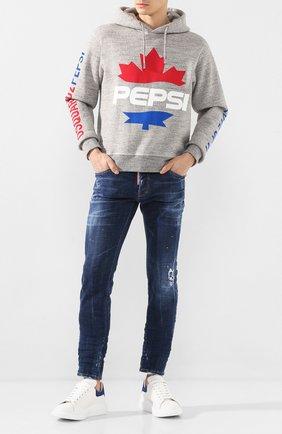 Мужские джинсы DSQUARED2 синего цвета, арт. S71LB0727/S30342   Фото 2