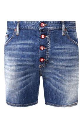 Мужские джинсовые шорты DSQUARED2 синего цвета, арт. S71MU0583/S30342 | Фото 1
