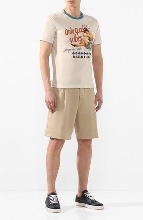 Мужские хлопковые шорты DSQUARED2 бежевого цвета, арт. S71MU0592/S39021 | Фото 2