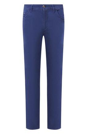 Мужской брюки из смеси хлопка и шелка ZILLI синего цвета, арт. M0T-D0120-SPTE1/R001 | Фото 1