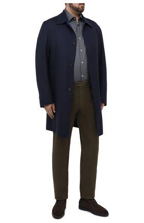 Мужской шерстяное пальто BRIONI темно-синего цвета, арт. S0PZ0L/06AX6 | Фото 2