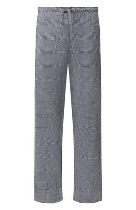 Мужские хлопковые брюки DEREK ROSE темно-синего цвета, арт. 3564-KELB010   Фото 1