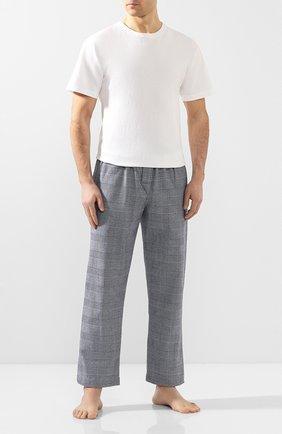Мужские хлопковые брюки DEREK ROSE темно-синего цвета, арт. 3564-KELB010   Фото 2