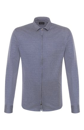 Мужская хлопковая рубашка GIORGIO ARMANI темно-серого цвета, арт. 8WGCCZ5H/JZ556 | Фото 1