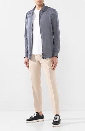 Мужская хлопковая рубашка GIORGIO ARMANI темно-серого цвета, арт. 8WGCCZ5H/JZ556 | Фото 2