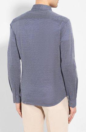 Мужская хлопковая рубашка GIORGIO ARMANI темно-серого цвета, арт. 8WGCCZ5H/JZ556 | Фото 4