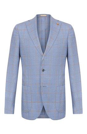Мужской шерстяной пиджак SARTORIA LATORRE голубого цвета, арт. EF74 Q70544 | Фото 1