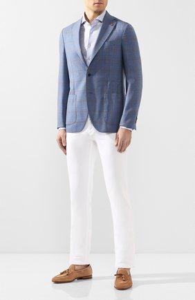 Мужской шерстяной пиджак SARTORIA LATORRE голубого цвета, арт. EF74 Q70544 | Фото 2