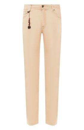 Мужской брюки из смеси хлопка и шелка MARCO PESCAROLO бежевого цвета, арт. NERAN0M18/4104 | Фото 1