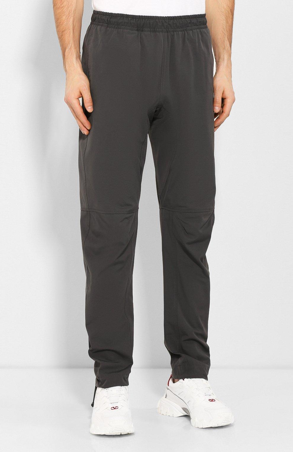 Мужские брюки из смеси хлопка и вискозы BOTTEGA VENETA темно-серого цвета, арт. 608707/VA5Y0 | Фото 3