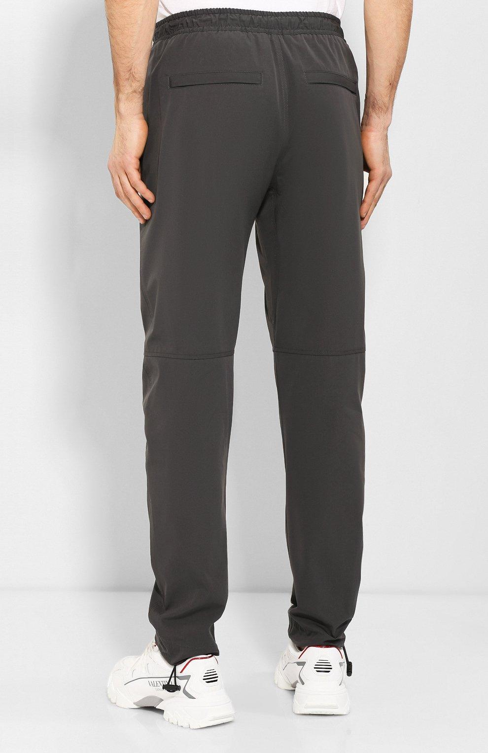 Мужские брюки из смеси хлопка и вискозы BOTTEGA VENETA темно-серого цвета, арт. 608707/VA5Y0 | Фото 4