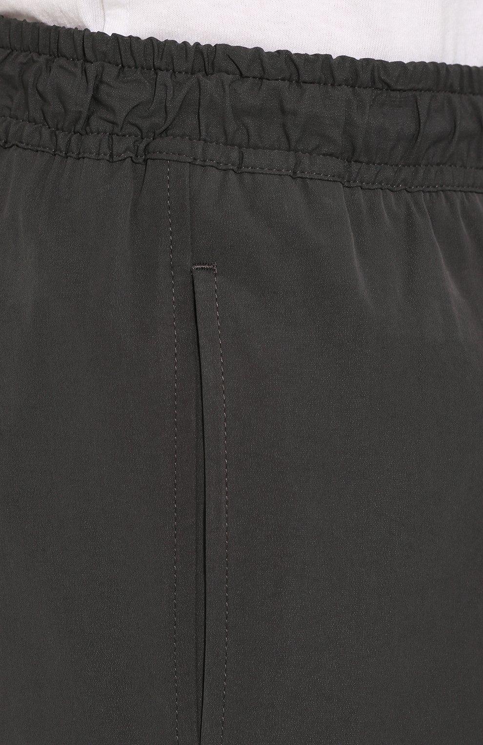 Мужские брюки из смеси хлопка и вискозы BOTTEGA VENETA темно-серого цвета, арт. 608707/VA5Y0 | Фото 5