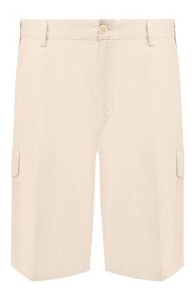 Мужские льняные шорты DOLCE & GABBANA бежевого цвета, арт. GW3JAT/FU4JB   Фото 1