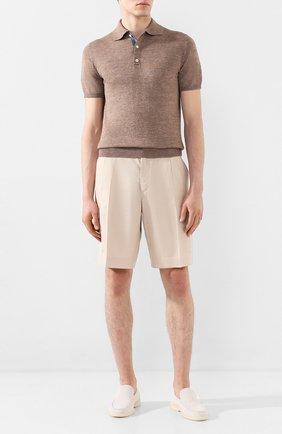 Мужские льняные шорты DOLCE & GABBANA бежевого цвета, арт. GW3JAT/FU4JB   Фото 2