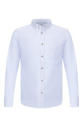Мужская хлопковая рубашка MONCLER синего цвета, арт. F1-091-2F702-60-54A3B | Фото 1