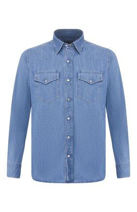 Мужская джинсовая рубашка TOM FORD голубого цвета, арт. 7FT420/94U2HE | Фото 1