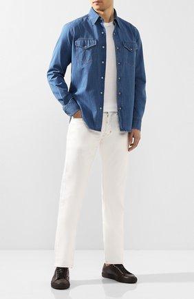 Мужская джинсовая рубашка TOM FORD голубого цвета, арт. 7FT420/94U2HE | Фото 2