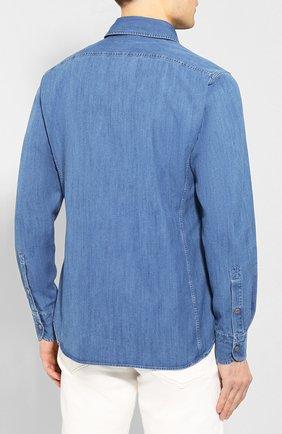 Мужская джинсовая рубашка TOM FORD голубого цвета, арт. 7FT420/94U2HE | Фото 4