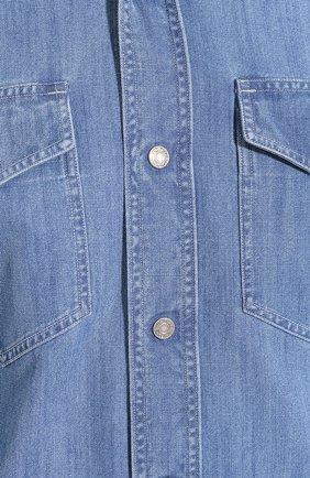 Мужская джинсовая рубашка TOM FORD голубого цвета, арт. 7FT420/94U2HE | Фото 5