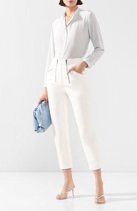Женская шелковая блузка STELLA MCCARTNEY голубого цвета, арт. 531885/SY206 | Фото 2