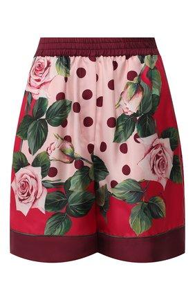 Женские шелковые шорты DOLCE & GABBANA розового цвета, арт. FTAM7T/GDU07 | Фото 1