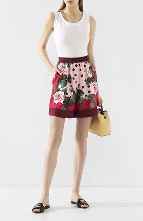 Женские шелковые шорты DOLCE & GABBANA розового цвета, арт. FTAM7T/GDU07 | Фото 2
