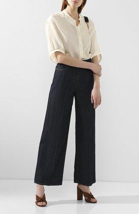 Женские джинсы VALENTINO синего цвета, арт. TB3DD09L55F | Фото 2