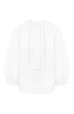 Женская блузка из смеси льна и хлопка CHLOÉ белого цвета, арт. CHC20SHT85148 | Фото 1