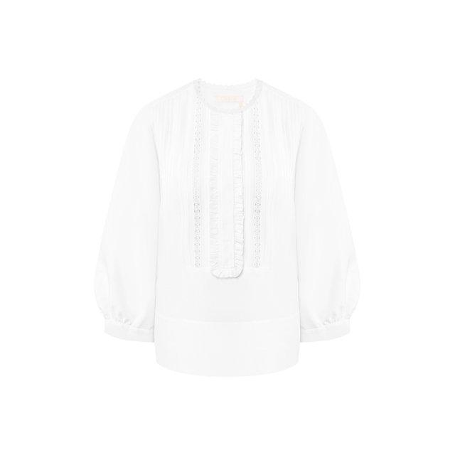 Блузка из смеси льна и хлопка Chloé