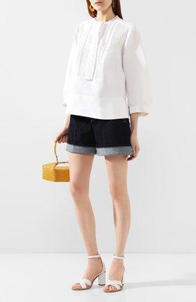 Женская блузка из смеси льна и хлопка CHLOÉ белого цвета, арт. CHC20SHT85148 | Фото 2